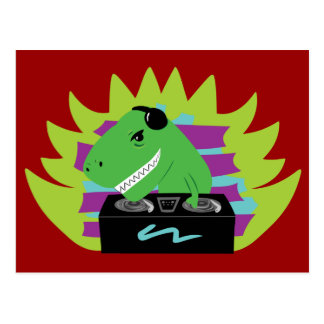 Dj-asaurus Rex Postcard