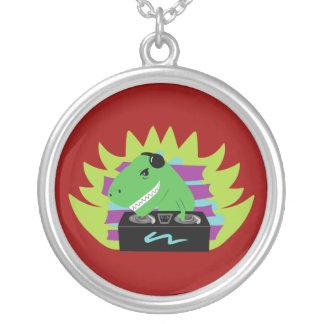 Dj-asaurus Rex Silver Plated Necklace