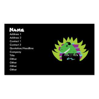 Dj-asaurus Rex T-Rex DJ Business Cards