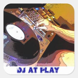 DJ AT PLAY SQUARE STICKER