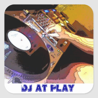 DJ AT PLAY SQUARE STICKERS