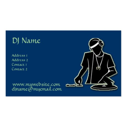DJ at Work! Business Card Template
