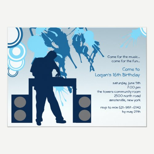 DJ at Work Invitation