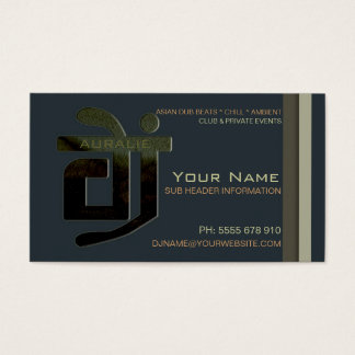 DJ Aural Beats Music Business Card