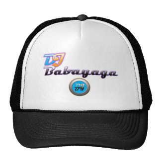 DJ Babayaga word super large, DJBY Logo large Trucker Hats