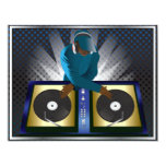 "DJ Bachelor Bachelorette Surprise Party Invitation 4.25"" X 5.5"" Invitation Card"