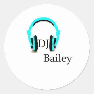 dj bailey classic round sticker