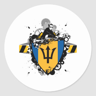 DJ Barbados Classic Round Sticker