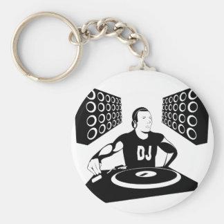 DJ BASIC ROUND BUTTON KEYCHAIN