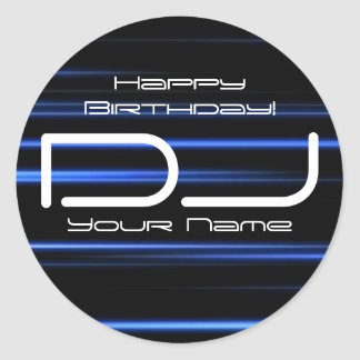 DJ Birthday Sticker
