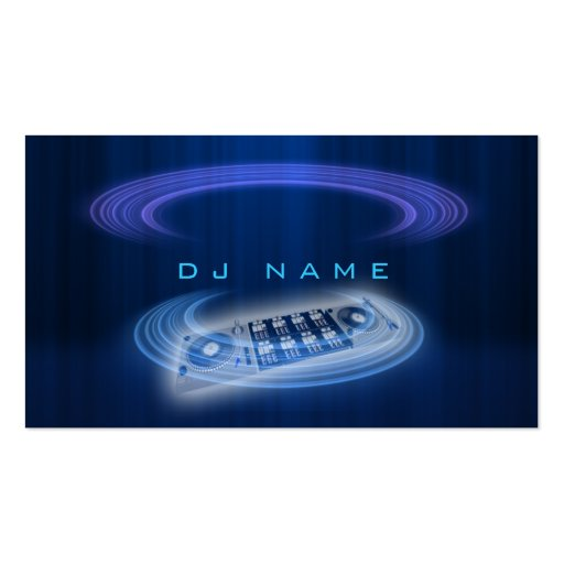 dj blue business card
