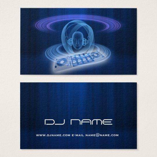 DJ blue head Business Card