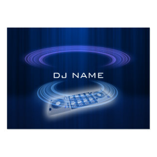 dj blue large business cards (Pack of 100)