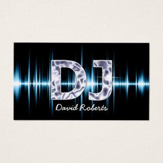 DJ Blue Sound Waves Professional Deejay Music Business Card