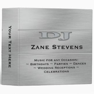 """DJ Brushed Silver Chrome Binder 2"""""""