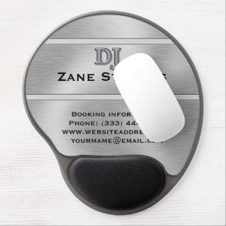 DJ Brushed Silver Chrome Gel Mouse Pad