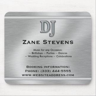 DJ Brushed Silver Chrome Mouse Pad