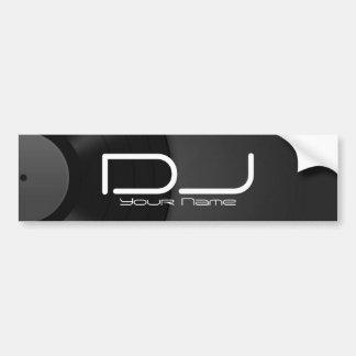 DJ Bumper Sticker with Vinyl Background