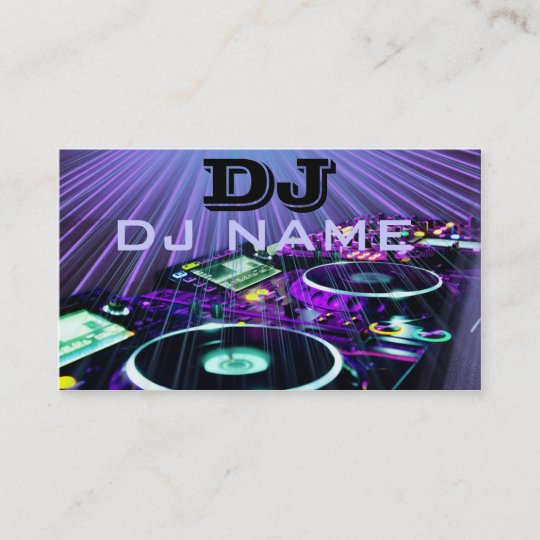 Dj business card zazzle dj business card reheart Image collections