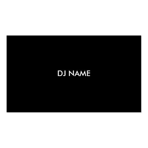 DJ Business Card (back side)