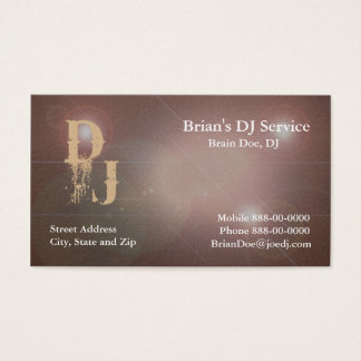 Disco lights business cards templates zazzle dj business card reheart Choice Image