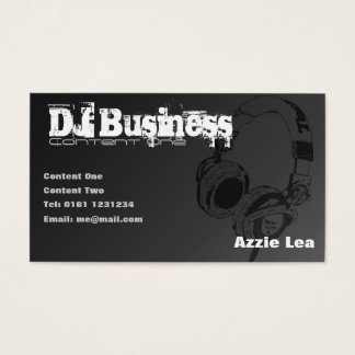 Dj contact business cards templates zazzle dj business card black customisable reheart Choice Image