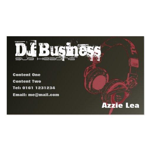 DJ Business Card [brown] - customisable