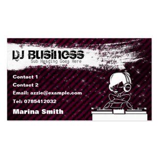 DJ Business Card [female] - customisable