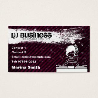 Girl Dj Business Cards Templates Zazzle