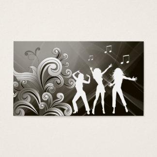 Dj Business Card Music Black Retro Dance