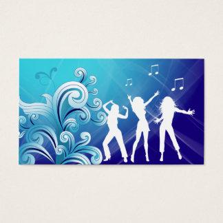 Dj Business Card Music Blue Retro Dance