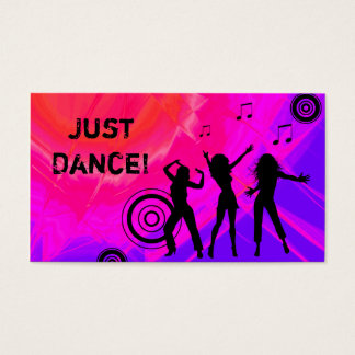 Dj Business Card Music Red pink Retro Dance 2
