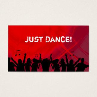 Dj Business Card Music Red Retro Dance 2