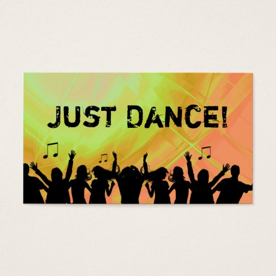 Dj Business Card Music Red yellow Retro Dance 2