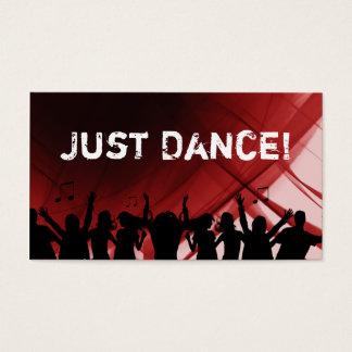 Dj Business Card Music Ruby Red Retro Dance