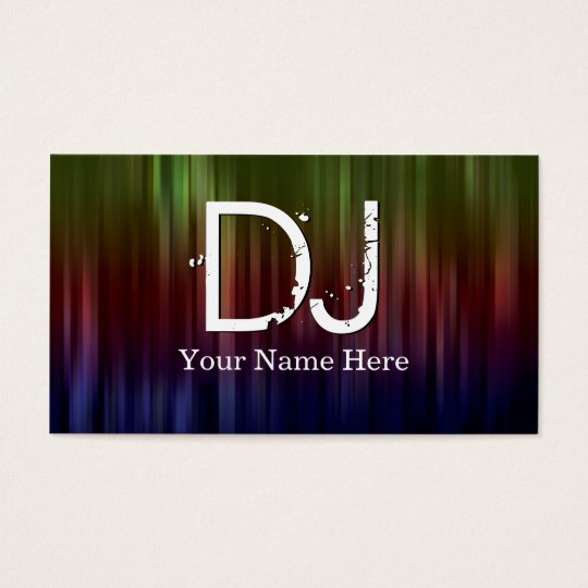 Dj business cards zazzle dj business cards reheart Choice Image