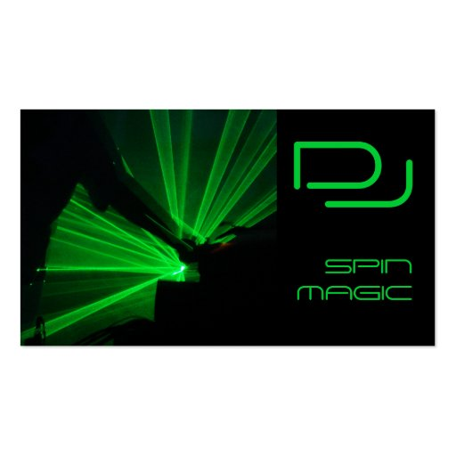 DJ Business Cards Black Green
