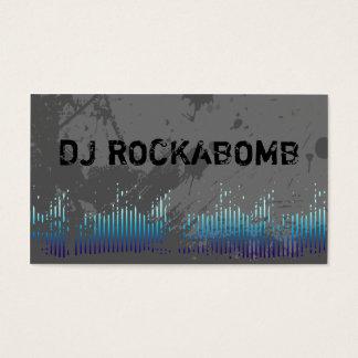 Dj Business Cards Blue Music Bars
