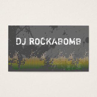 Dj Business Cards Yellow Music Bars