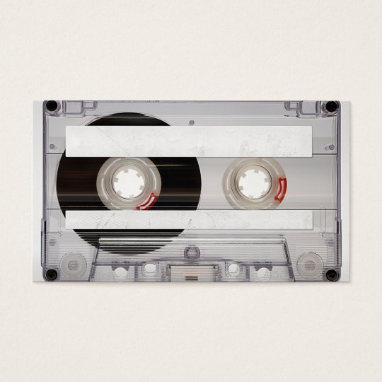 Dj cassette tape business card template zazzle dj cassette tape business card template reheart Image collections