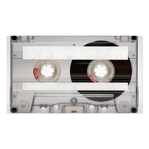 DJ Cassette Tape Business Card Template (back side)