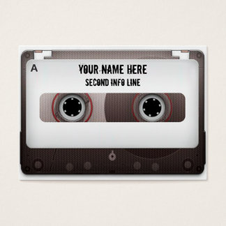 DJ Cassette Tape Mixtape Business Card