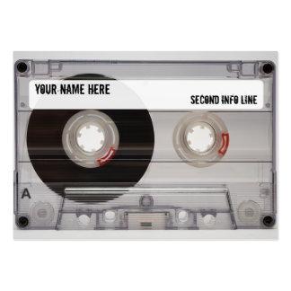 DJ Cassette Tape Mixtape Business Card Templates