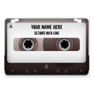 DJ Cassette Tape Mixtape Large Business Cards (Pack Of 100)