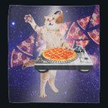 """dj cat - cat dj - space cat - cat pizza bandana<br><div class=""""desc"""">pet , pizza , cat , &quot;cat memes &quot;, &quot;cute cats&quot; , kitty , &quot;funny cats &quot;, &quot;cat music &quot;, &quot;cat space &quot;, &quot;pizza cat&quot;, </div>"""
