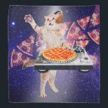 """dj cat - cat dj - space cat - cat pizza bandana<br><div class=""""desc"""">pet , pizza , cat , """"cat memes """", """"cute cats"""" , kitty , """"funny cats """", """"cat music """", """"cat space """", """"pizza cat"""", </div>"""
