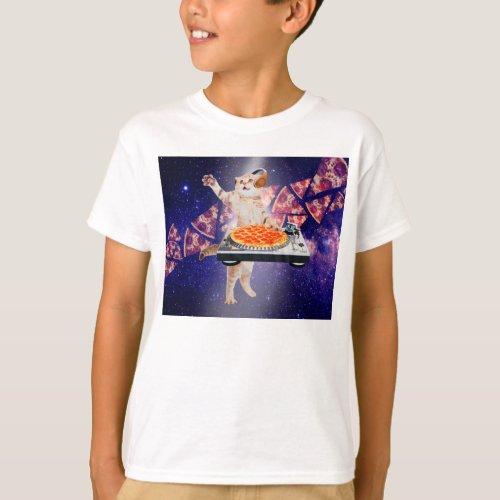 dj cat - cat dj - space cat - cat pizza T-Shirt