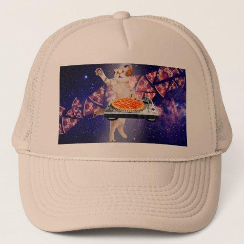 dj cat - cat dj - space cat - cat pizza trucker hat