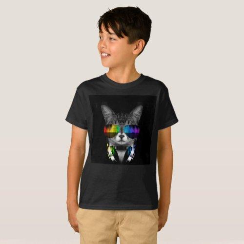 Dj cat - cat headphones - cat sounds T-Shirt