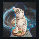 """dj cat - space cat - cat pizza - cute cats bandana<br><div class=""""desc"""">cat memes , funny cats , disc jockey, party meme music sound,  galaxy purple cosmic disco,  universe cats cute pet , kitten colorful feline cat  , animal ginger pets animals ,  kitty adorable fluffy beautiful,  young domestic happy tabby , </div>"""